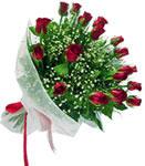 Siirt çiçek gönderme  11 adet kirmizi gül buketi sade ve hos sevenler
