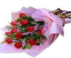 11 adet kirmizi güllerden görsel buket  Siirt çiçek servisi , çiçekçi adresleri