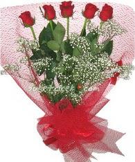 5 adet kirmizi gülden buket tanzimi  Siirt çiçek mağazası , çiçekçi adresleri