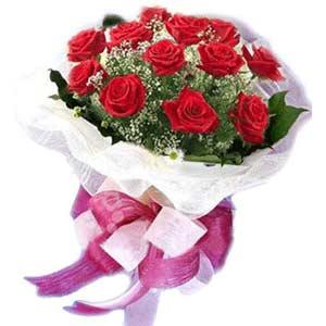 Siirt yurtiçi ve yurtdışı çiçek siparişi  11 adet kırmızı güllerden buket modeli