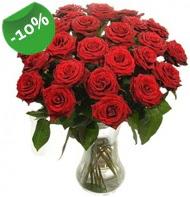 Vazo içerisinde 25 adet kırmızı gül  Siirt hediye çiçek yolla