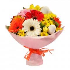 Karışık mevsim buketi Mevsimsel çiçek  Siirt çiçek satışı