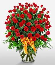 Görsel vazo içerisinde 101 adet gül  Siirt hediye çiçek yolla