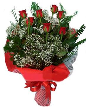 7 kırmızı gül buketi  Siirt online çiçek gönderme sipariş