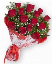 11 kırmızı gülden buket  Siirt uluslararası çiçek gönderme