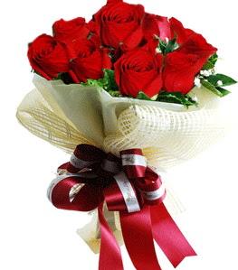 9 adet kırmızı gülden buket tanzimi  Siirt çiçek servisi , çiçekçi adresleri