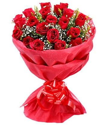 21 adet kırmızı gülden modern buket  Siirt kaliteli taze ve ucuz çiçekler