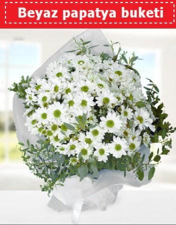 Beyaz Papatya Buketi  Siirt internetten çiçek satışı