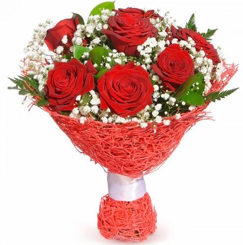 7 adet kırmızı gül buketi  Siirt çiçekçi telefonları