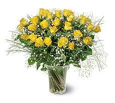 Siirt çiçek yolla  15 adet sarigül mika yada cam vazoda