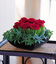 Siirt çiçek yolla  10 adet kare mika yada cam vazoda gül tanzim