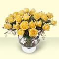 Siirt güvenli kaliteli hızlı çiçek  11 adet sari gül cam yada mika vazo içinde