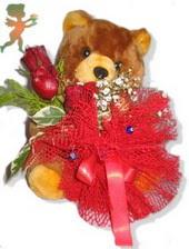 oyuncak ayi ve gül tanzim  Siirt çiçekçi telefonları