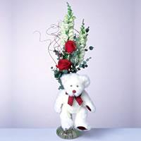 2 adet gül ve panda özel  Siirt çiçek gönderme sitemiz güvenlidir