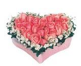 kalp içerisinde 9 adet pembe gül  Siirt yurtiçi ve yurtdışı çiçek siparişi