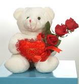 3 adetgül ve oyuncak   Siirt anneler günü çiçek yolla