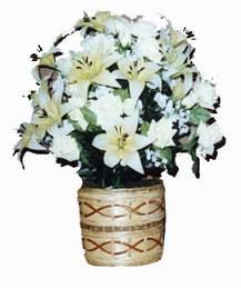 yapay karisik çiçek sepeti   Siirt cicek , cicekci