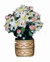 yapay karisik çiçek sepeti   Siirt online çiçek gönderme sipariş