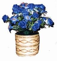 yapay mavi çiçek sepeti  Siirt çiçekçi mağazası