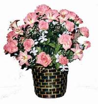 yapay karisik çiçek sepeti  Siirt çiçek siparişi vermek