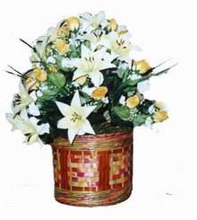 yapay karisik çiçek sepeti   Siirt çiçekçi mağazası