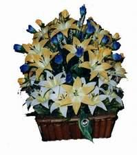 yapay karisik çiçek sepeti   Siirt kaliteli taze ve ucuz çiçekler