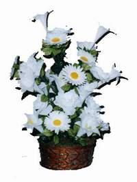 yapay karisik çiçek sepeti  Siirt çiçek , çiçekçi , çiçekçilik