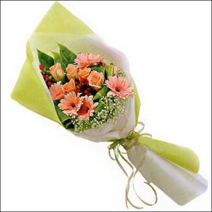 sade güllü buket demeti  Siirt çiçek gönderme sitemiz güvenlidir