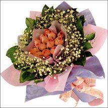 11  adet  gül ve   elyaflar   Siirt çiçek gönderme sitemiz güvenlidir