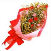 12 adet renkli  gül buketi   Siirt çiçek gönderme sitemiz güvenlidir