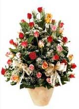 91 adet renkli gül aranjman   Siirt çiçek servisi , çiçekçi adresleri