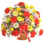 karisik renkli çiçek sepet   Siirt çiçek servisi , çiçekçi adresleri
