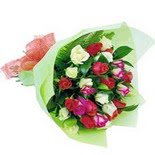 12 adet renkli gül buketi   Siirt çiçek servisi , çiçekçi adresleri