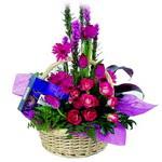 çikolata ve sepette çiçek   Siirt çiçek servisi , çiçekçi adresleri