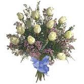 bir düzine beyaz gül buketi   Siirt çiçek servisi , çiçekçi adresleri