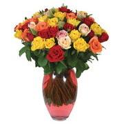 51 adet gül ve kaliteli vazo   Siirt çiçek servisi , çiçekçi adresleri