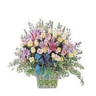 sepette kazablanka ve güller   Siirt kaliteli taze ve ucuz çiçekler