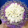 71 adet beyaz gül buketi   Siirt online çiçekçi , çiçek siparişi