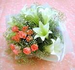 Siirt çiçek mağazası , çiçekçi adresleri  lilyum ve 7 adet gül buket