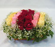 15 adet reprenkli gül sepeti   Siirt çiçek mağazası , çiçekçi adresleri