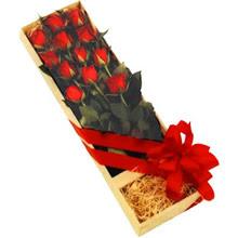 kutuda 12 adet kirmizi gül   Siirt çiçek mağazası , çiçekçi adresleri