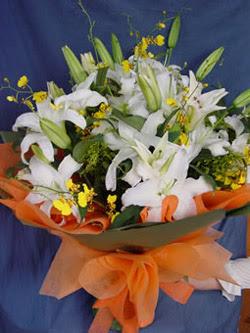 Siirt çiçek gönderme  5 ADET KAZABLANKA BUKETI KALITEDEN SASMAYANLARA
