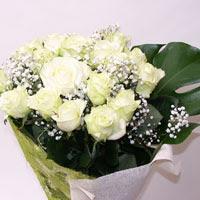 Siirt İnternetten çiçek siparişi  11 adet sade beyaz gül buketi