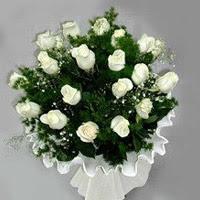 Siirt İnternetten çiçek siparişi  11 adet beyaz gül buketi ve bembeyaz amnbalaj