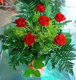 6 adet kirmizi gül buketi   Siirt ucuz çiçek gönder