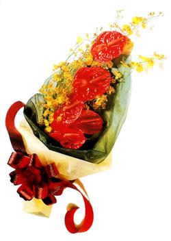 özel 5 adet antorium buketi   Siirt çiçek servisi , çiçekçi adresleri