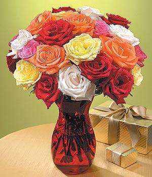 Siirt çiçekçiler  13 adet renkli gül