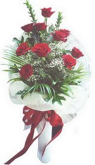 Siirt İnternetten çiçek siparişi  10 adet kirmizi gülden buket tanzimi özel anlara
