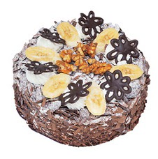 Muzlu çikolatali yas pasta 4 ile 6 kisilik   Siirt çiçek siparişi sitesi
