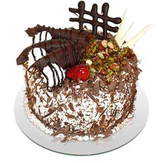 4 ile 6 kisilik çikolatali yas pasta  Siirt cicekciler , cicek siparisi